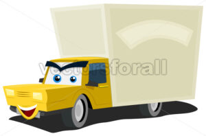 cartoon-truck-character.eps - Benchart's Shop