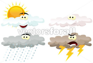 cartoon-weather-clouds-characters.eps - Benchart's Shop