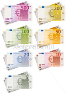 euro-bills-set.eps - Benchart's Shop