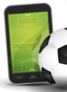 soccer-smartphone-and-ball.eps - Benchart's Shop