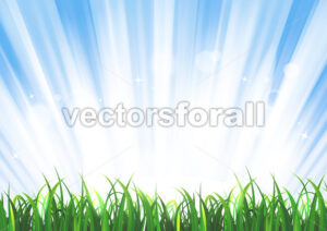 spring-or-summer-sunshine-grass-landscape.eps - Benchart's Shop