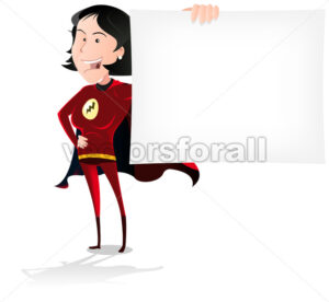super-hero-woman-blank-message.eps - Benchart's Shop