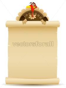 thanksgiving-turkey-holding-parchment.eps - Benchart's Shop