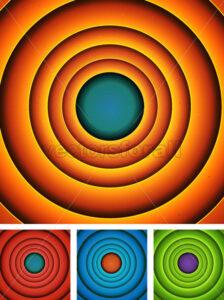 Abstract Cartoon Circles Background Set - Vectorsforall