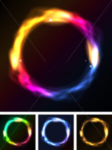 Abstract Neon Circles Or Galaxy Ring - Vectorsforall