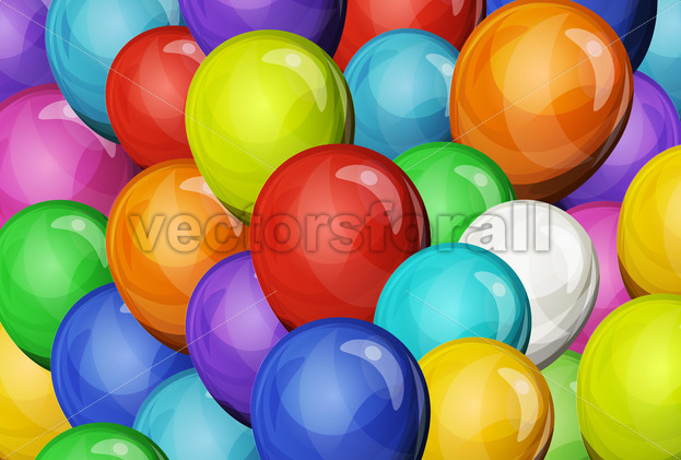 Abstract Party Balloons Background - Vectorsforall