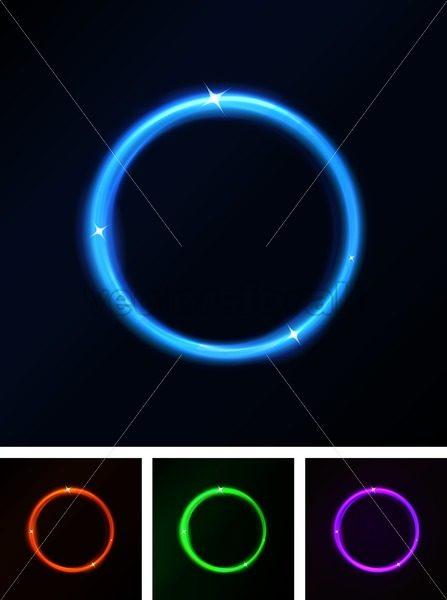 Abstract Shiny Laser Light Circles - Vectorsforall