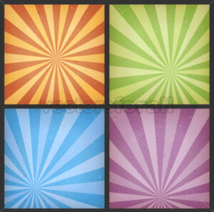 Abstract Sunbeams Backgrounds Set - Vectorsforall