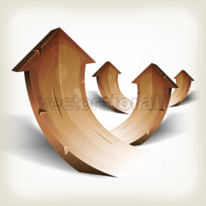 Abstract Wood Rising Arrows - Vectorsforall