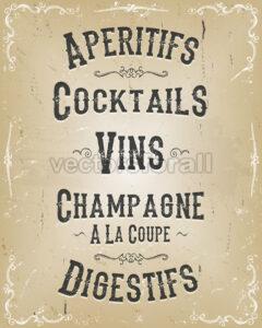 Alcohol And Beverage Poster Menu - Vectorsforall