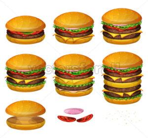 American Burgers All Size - Vectorsforall