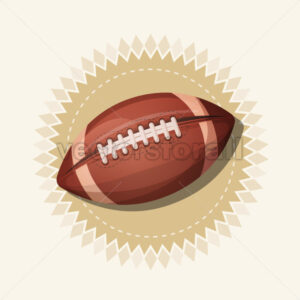 American Football Retro Banner - Vectorsforall