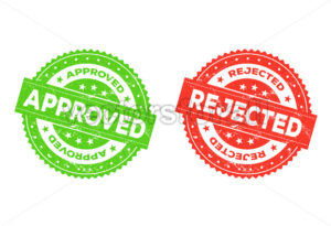 Approved And Rejected Stamp - Vectorsforall