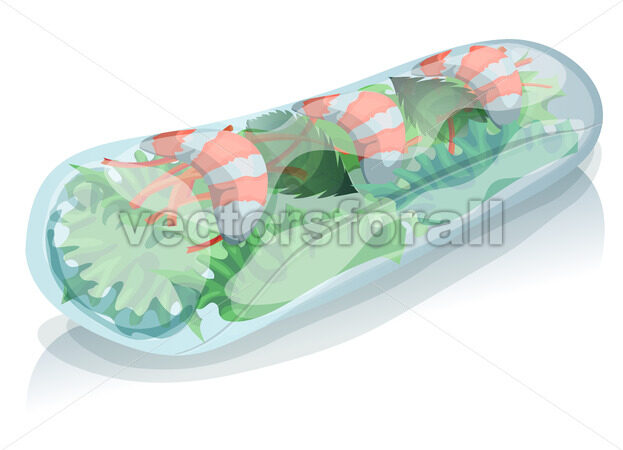 Asian Spring Roll - Vectorsforall