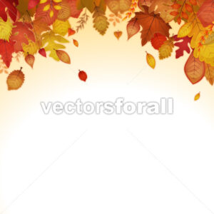 Autumn Leaves Background - Vectorsforall