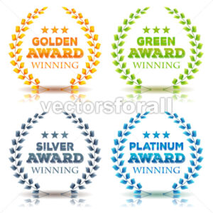 Awards Winning And Laurel Leaves Set - Vectorsforall
