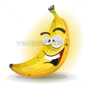 Banana Fruit Character - Vectorsforall