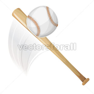 Baseball Bat Hitting Ball - Vectorsforall