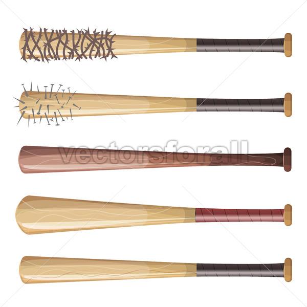 Baseball Bats Set - Vectorsforall