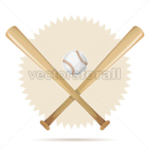 Baseball Retro Banner With Bats And Ball - Vectorsforall