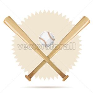 Baseball Retro Banner With Bats And Ball - Vectorsforall