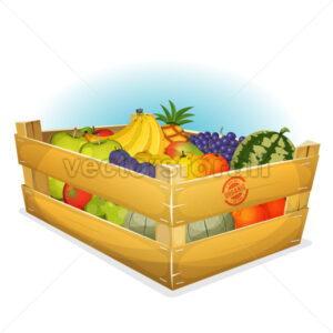 Basket Of Healthy Organic Fruits - Vectorsforall