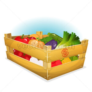 Basket Of Healthy Vegetables - Vectorsforall