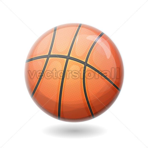 Basketball Ball Isolated - Vectorsforall