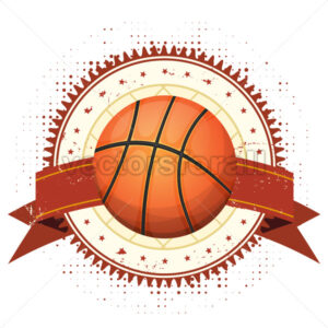 Basketball Grunge And Vintage Banner - Vectorsforall