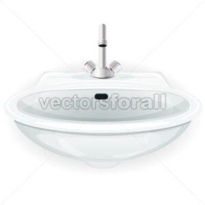 Bathroom Sink With Tap - Vectorsforall