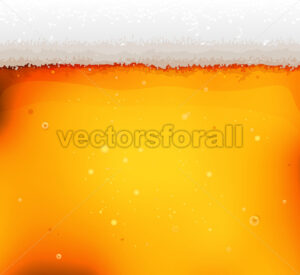 Beer Texture Background With Froth And Bubbles - Vectorsforall