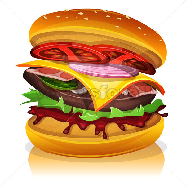 Big Bacon Burger - Vectorsforall