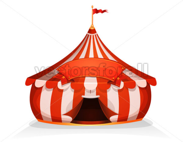 Big Top Little Circus Tent With Banner - Vectorsforall