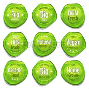 Bio And Eco Seal Stamper - Vectorsforall