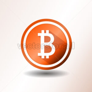Bitcoin Icon - Vectorsforall
