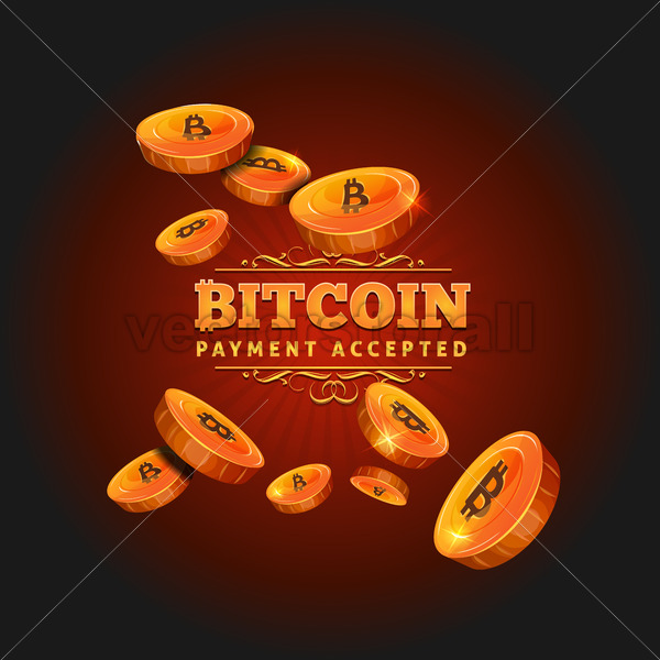 Bitcoin Payment Background - Vectorsforall