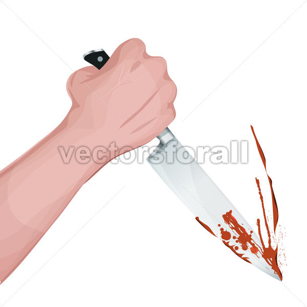Bloody Murder With Knife - Vectorsforall