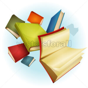 Books Collection Background - Vectorsforall