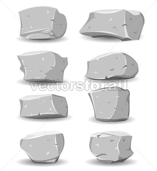 Boulders And Rocks Set - Vectorsforall