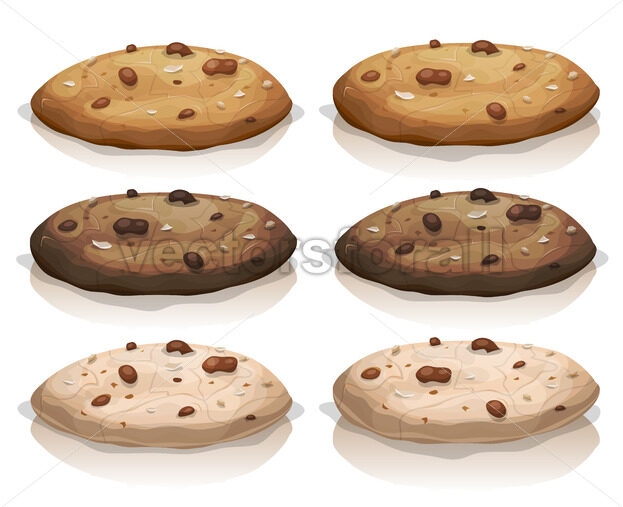 Brown Classic And Chocolate Cookies - Vectorsforall