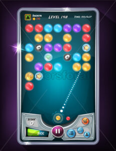 Bubble Game User Interface - Vectorsforall