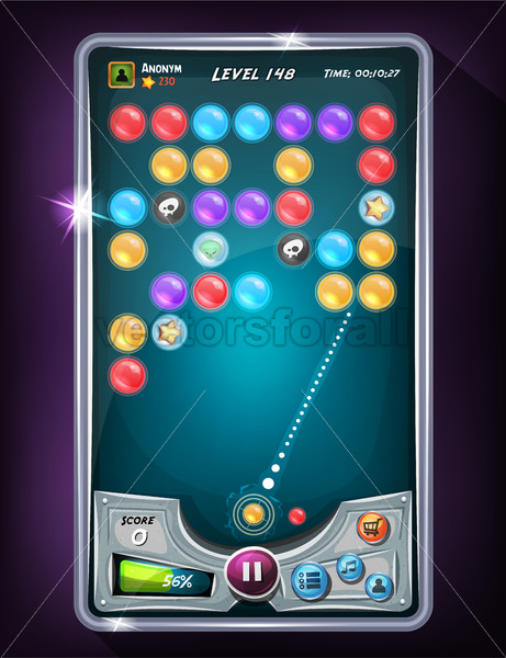 Bubble Game User Interface - Vectorsforall