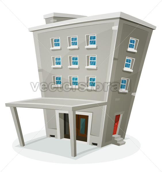 Building House With Offices Or Apartments - Vectorsforall