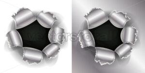 Bullet And Shotgun Hole - Vectorsforall
