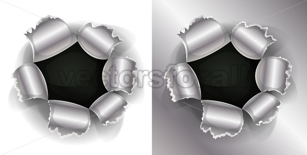 Bullet And Shotgun Hole - Vectorsforall