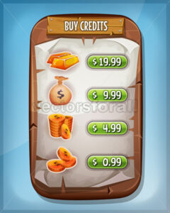 Buying Credits Interface For Ui Game - Vectorsforall