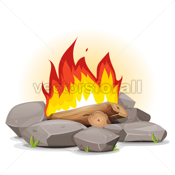Campfire With Burning Flames - Vectorsforall