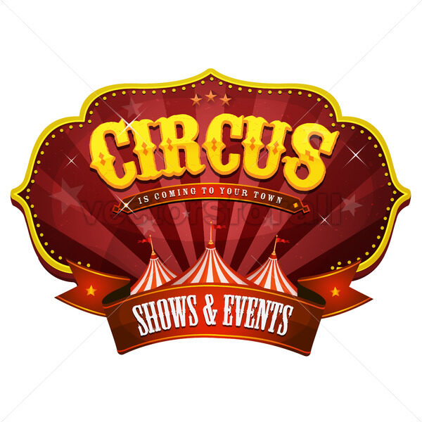 Carnival Circus Banner With Big Top - Vectorsforall