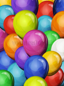 Carnival Party Balloons Background - Vectorsforall