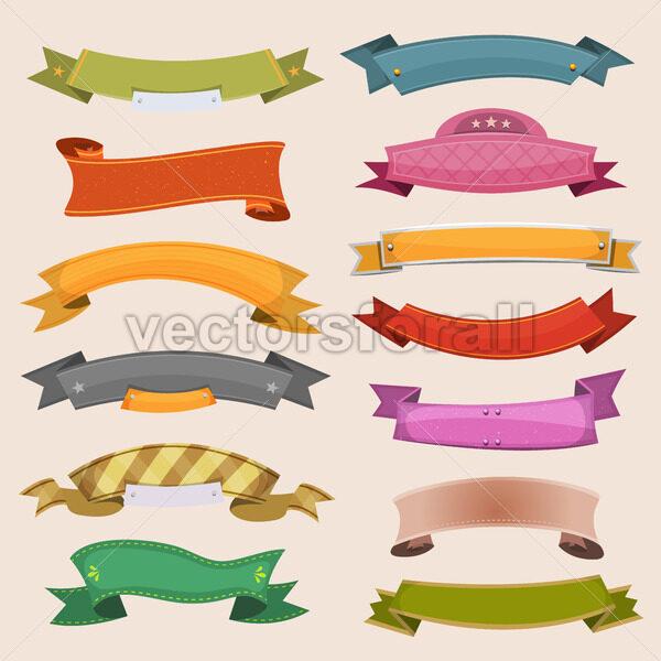 Cartoon Banners And Ribbons - Vectorsforall